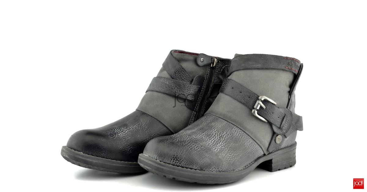 cdc95550e5 Oliver členkové topánky kombinované grafitové - s.Oliver - Podzim zima -  JADI.sk - ...viac než topánky