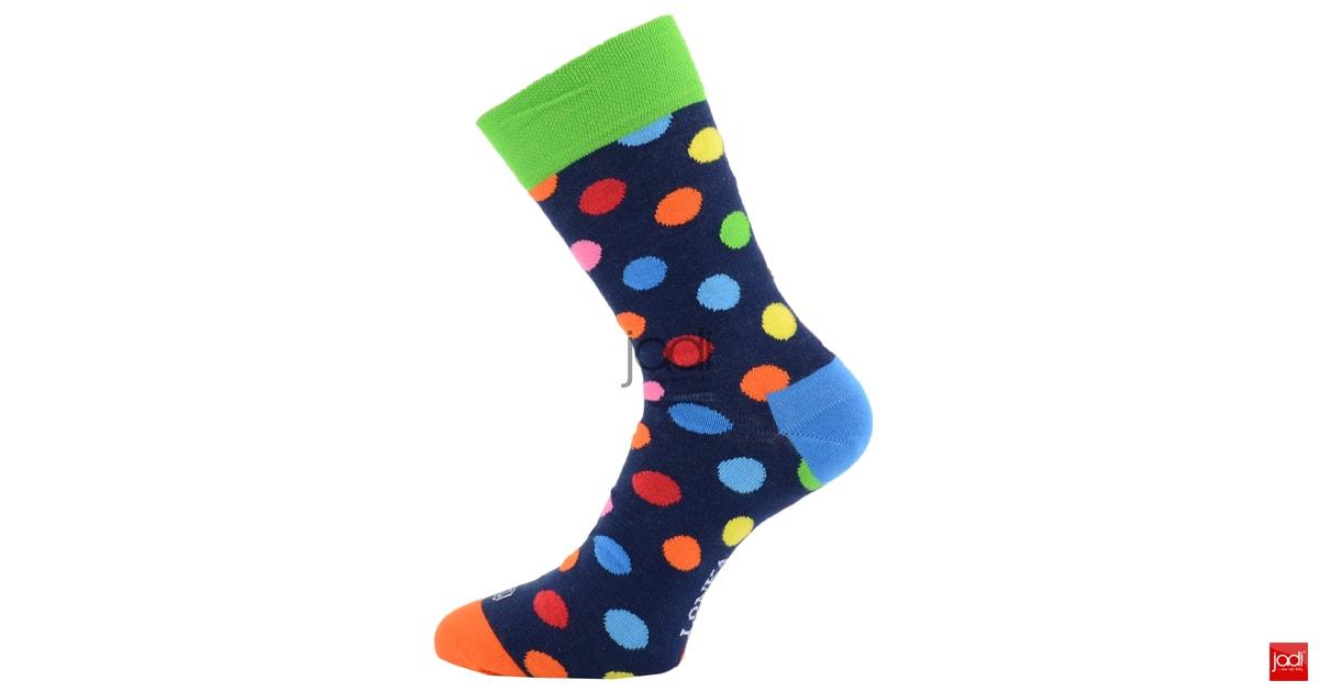 f38fbedf35b Lonka puntíkované ponožky Woodoo · Lonka luxusní barevné puntíkované ponožky
