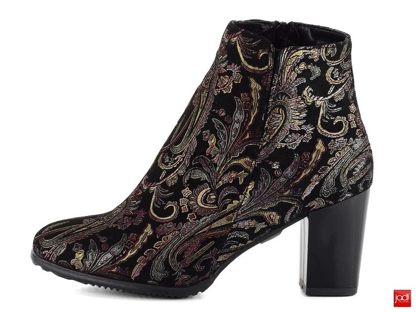 Barton elegantné členkové topánky čierne s ornamentom 16434 - Barton -  Podzim zima - JADI.sk - ...viac než topánky 2dfc44b33f