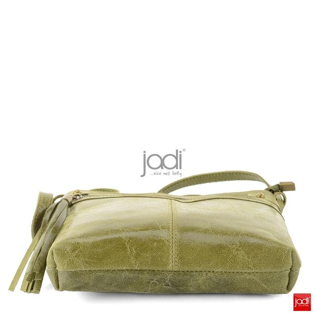 Dámska kabelka crossbody kožená zelená 6-615 - Jadi - Kožené kabelky - JADI.sk  - ...viac než topánky ccfa1ae637d