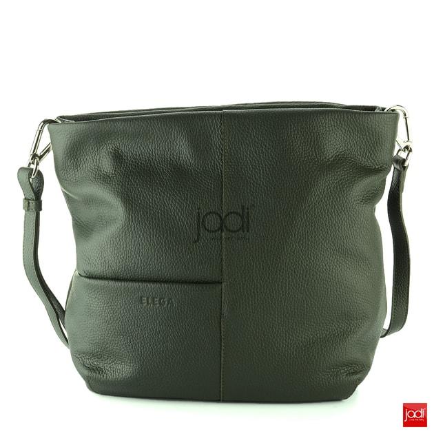 Elega kabelka zo štruktúrovanej kože zelená 69263 - Elega - Kožené kabelky  - JADI.sk - ...viac než topánky 120fb458aad