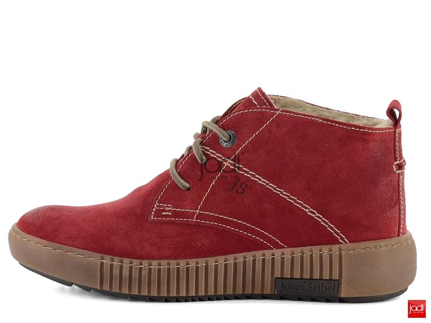 Josef Seibel zateplené členkové topánky červené Maren 84602PL944 - Josef  Seibel - Podzim zima - JADI.sk - ...viac než topánky 67d6d113da9