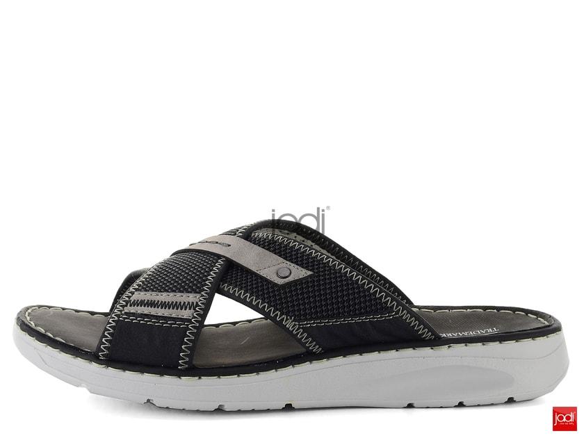 Rieker krížené šľapky čierne 25495-00 - Rieker - Pantofle a žabky - JADI.sk  - ...viac než topánky 61282b74f37