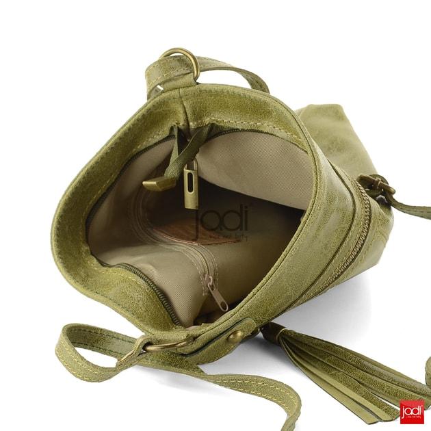 Dámská kabelka crossbody kožená zelená 6-615 - Jadi - Kožené kabelky - JADI.cz  - ...více než boty 2fc125587b1