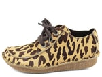 Clarks polobotky leopard Funny Dream