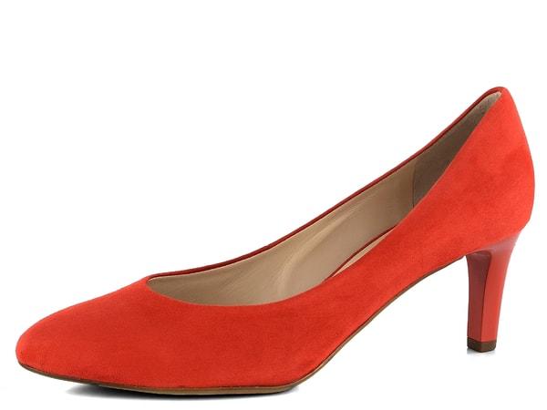 Högl semišové lodičky Scarlet 7-106002 Elegantní dámské světle červené  lodičky ze semišové kůže na středně vysokém 20fe59dfe9