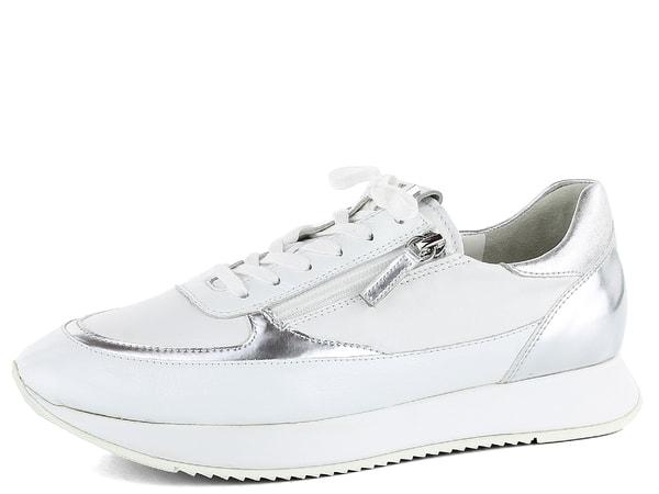 Högl luxusní tenisky se zipy bílé stříbrné 7-101329 Luxusní dámské  kombinované tenisky v bílé barvě se dvěma funkčními zipy. e0ae1b5281