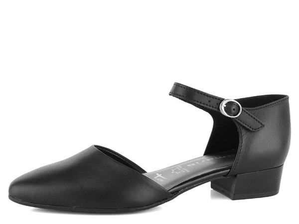 Tamaris lodičky s páskem kolem nohy 1-24210-22 Pohodlné dámské lodičky v  černé hladké kůži na nízkém podpatku s páskem kolem nohy. 24e04df7f1