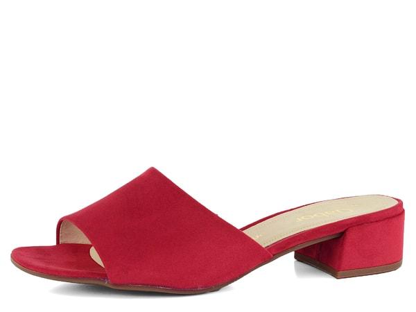 5009f3f5741 Gabor červené pantofle na podpatku 21.700.45