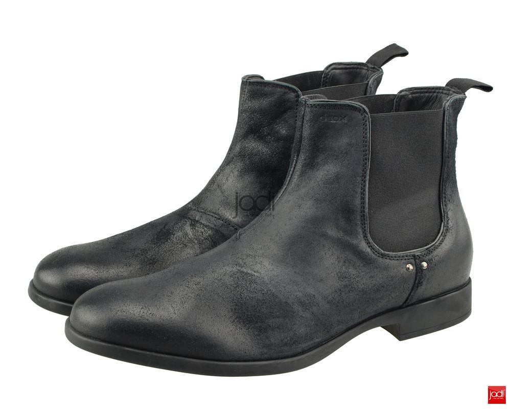 Geox pánske členkové topánky čierne Journey Black - Geox - Podzim ... c8470a4afd