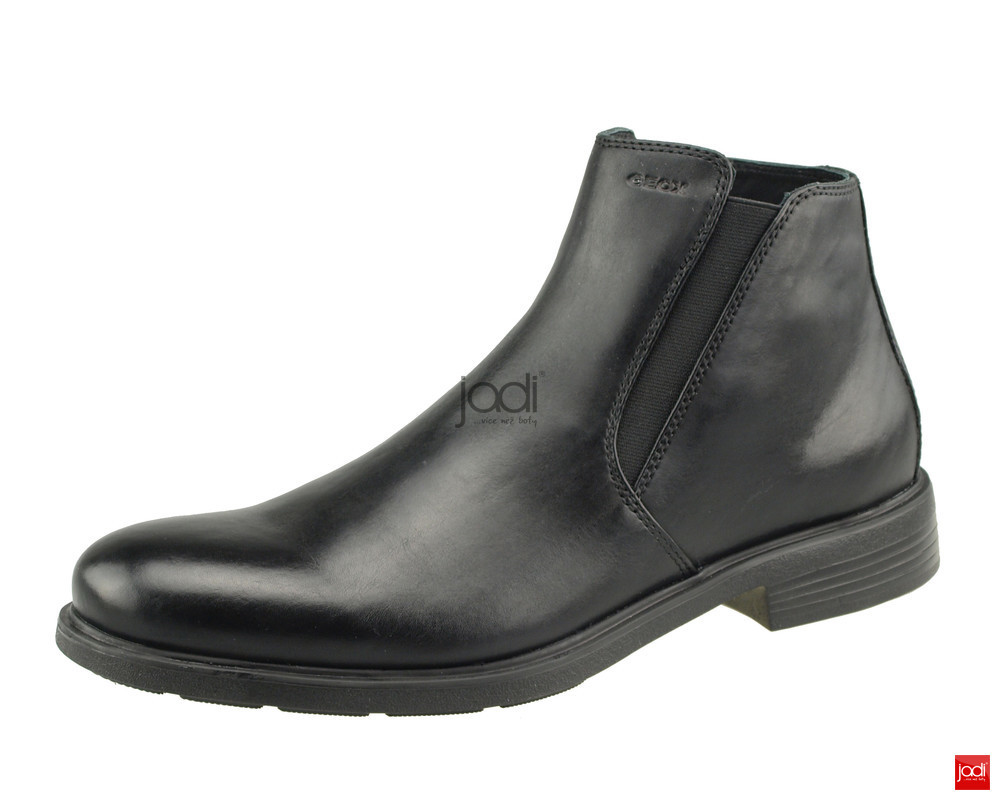 Geox pánske členkové topánky čierne Dublin Black - Geox - Podzim ... 0a358e2edd