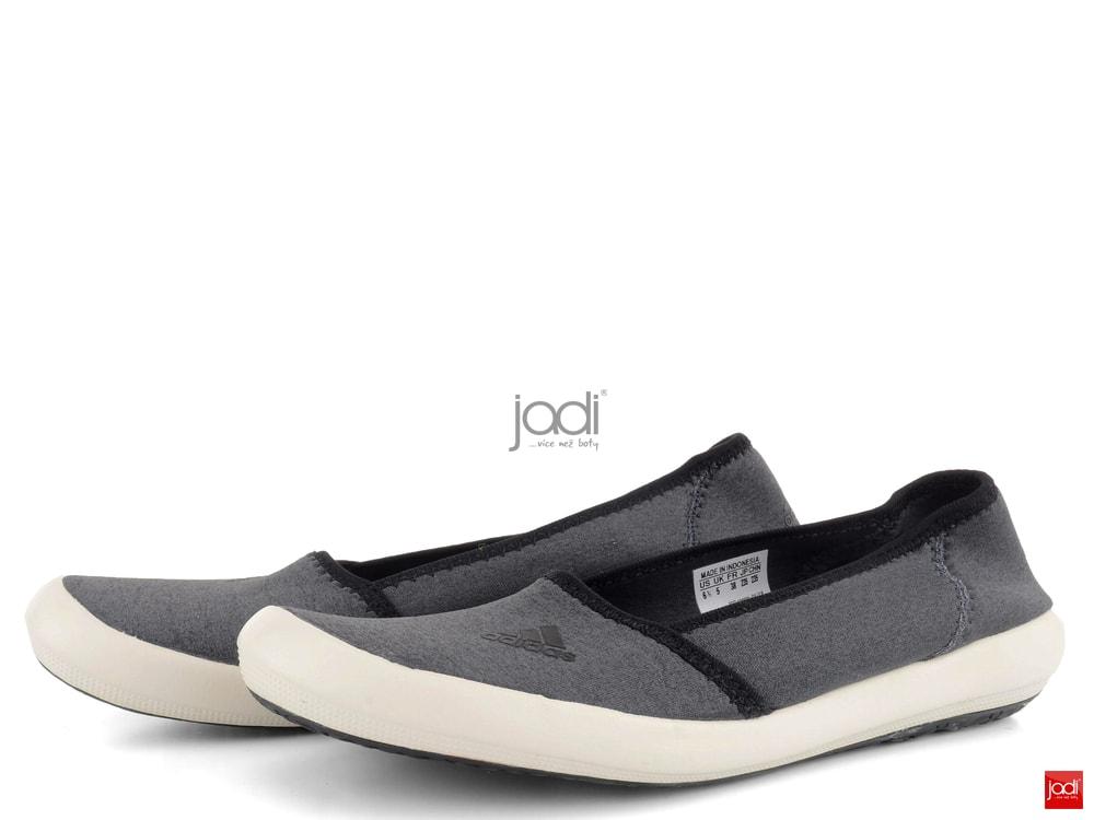 167afaa66fd adidas baleríny šedé Boat Slip-On - adidas - Balerínky - JADI.sk ...