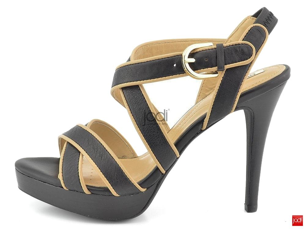 Geox elegantní sandály černé béžové Ivana - Geox - Sandály - JADI ... acd85daad3