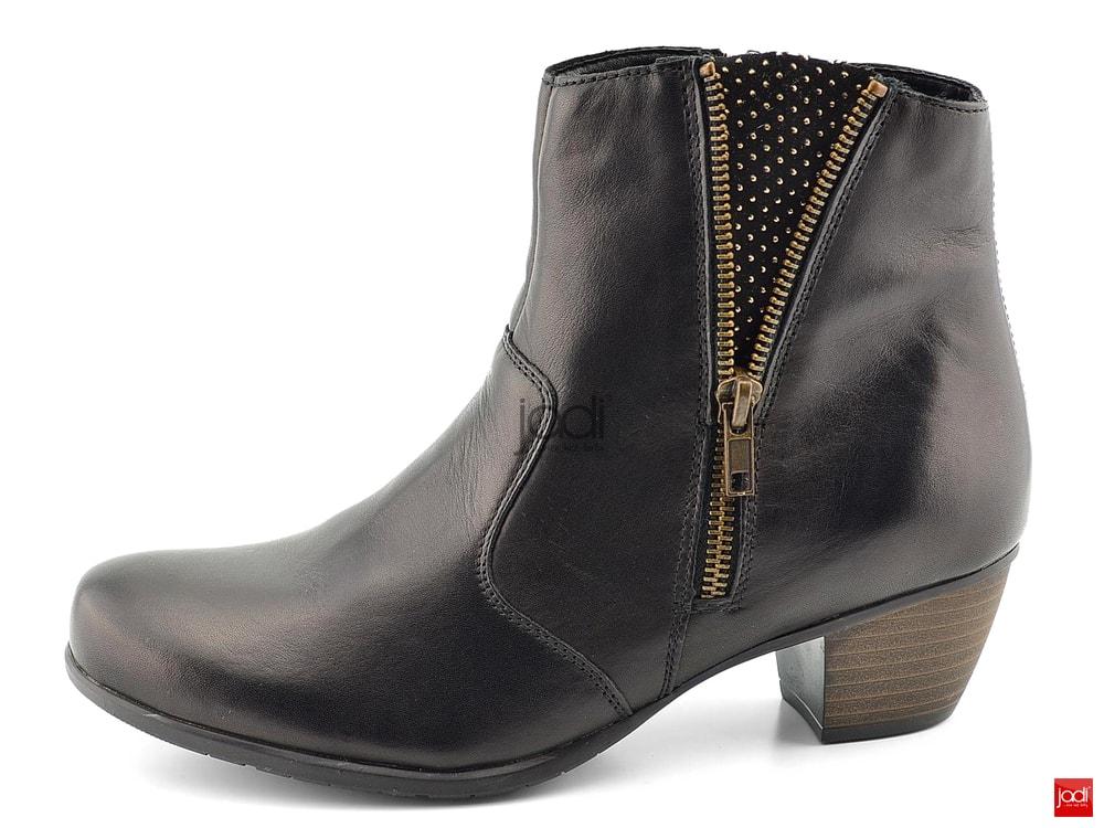 298a6df1d7 Remonte členkové topánky čierne so zipsom - Remonte - Podzim zima ...