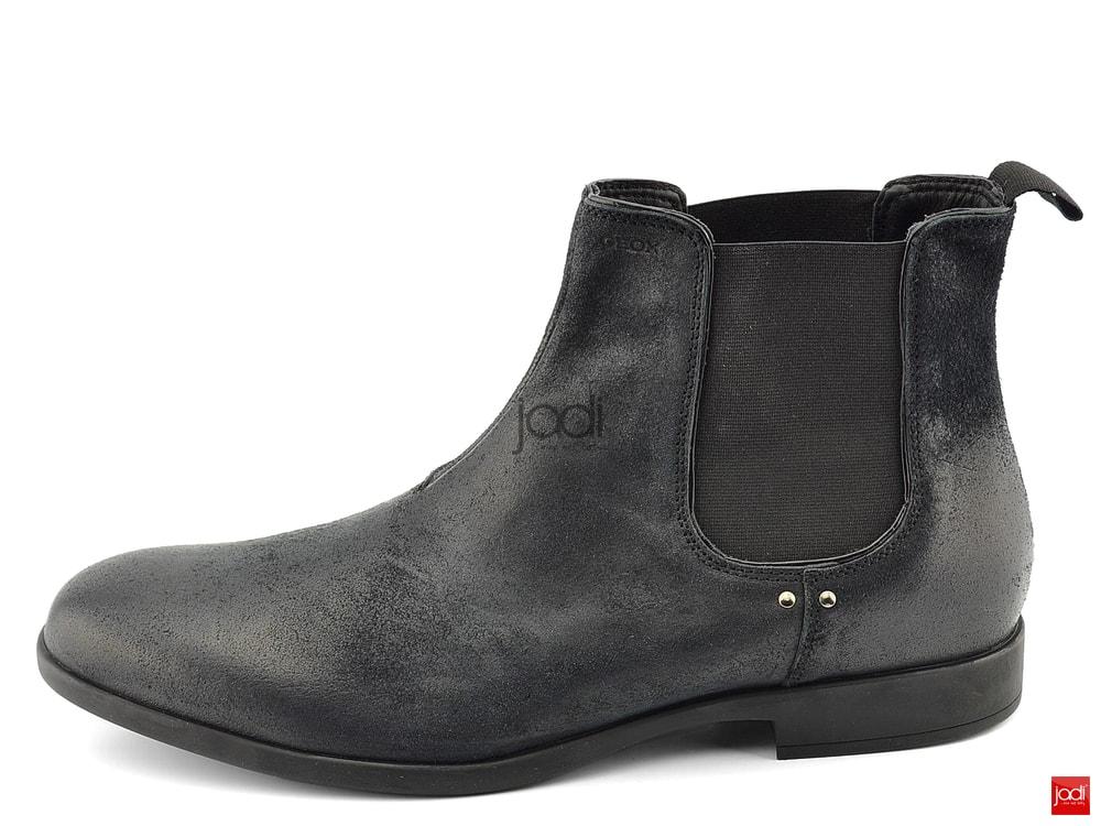 4fa52526cfad9 Geox pánske členkové topánky čierne Journey Black - Geox - Podzim ...