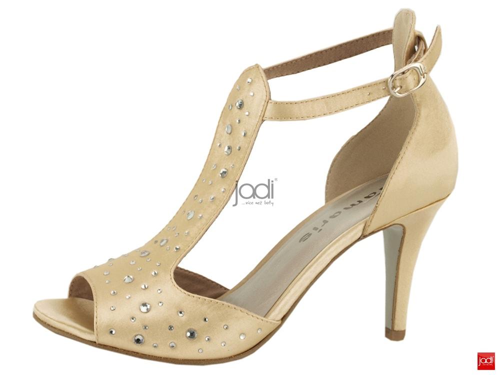 ebf574a1bed Tamaris společenské sandály champagn satin - Tamaris ...