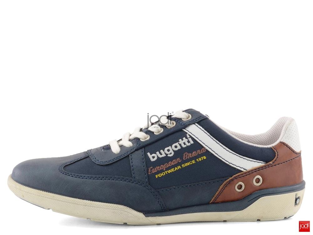 87488da92bd Bugatti športové poltopánky modré K2304-6N6 - Bugatti - Tenisky a ...