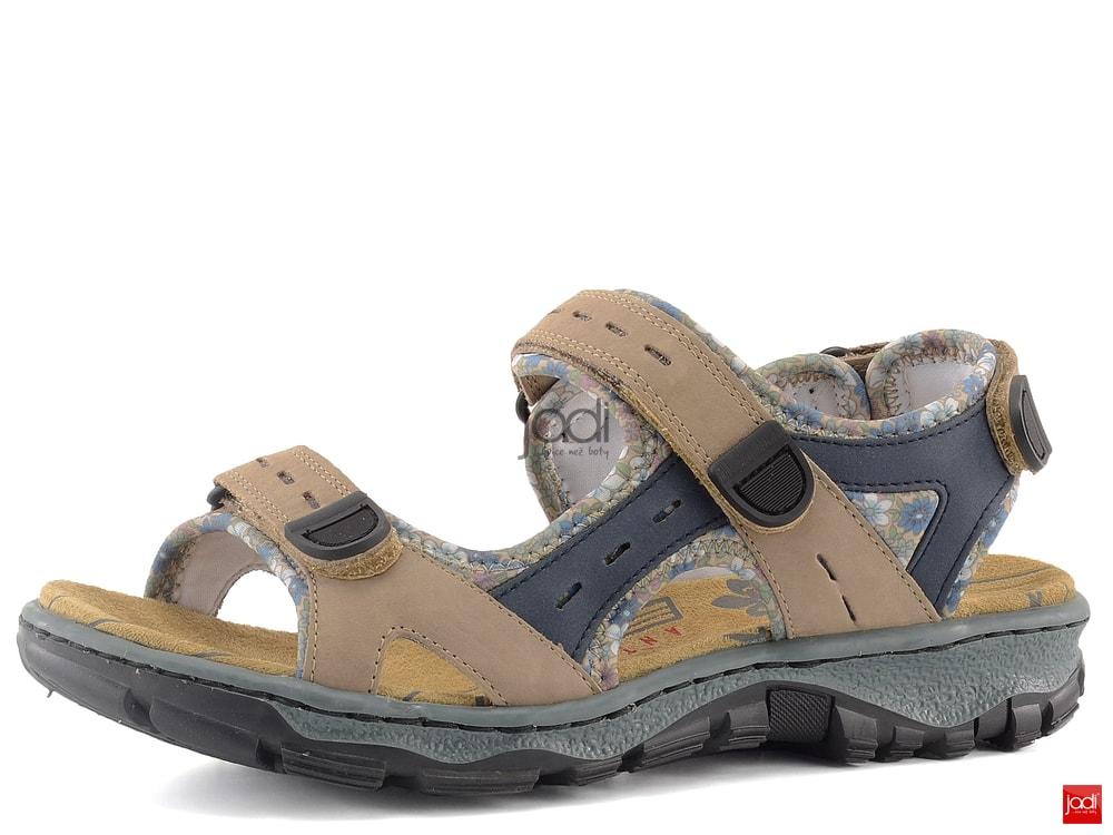 Rieker dámské sportovní sandály hnědé 68872-25 - Rieker - Pro ženy ... 7dbf598e1c