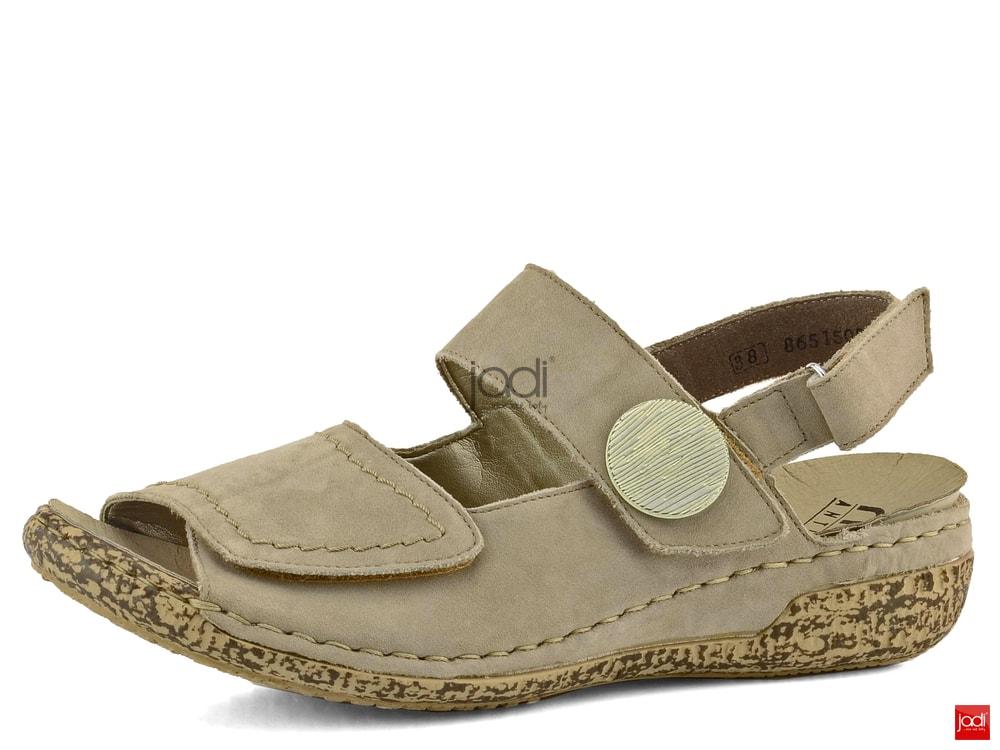 Rieker sandály s variabilní šířkou béžové V7272-42 - Rieker - Sandály ... d6338153af