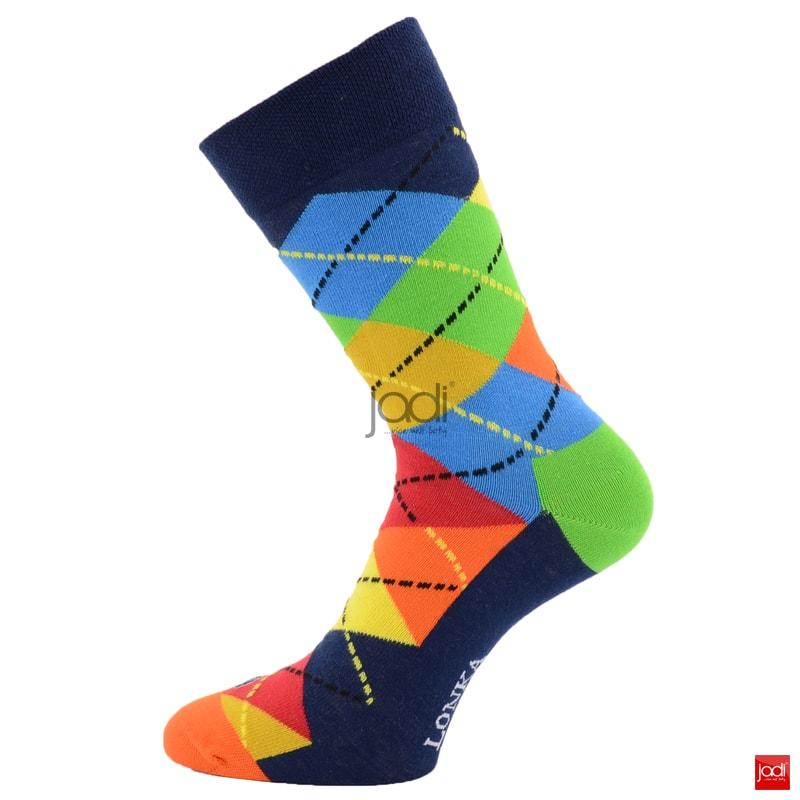 14fce948e5a Lonka luxusní barevné kárované ponožky - Lonka - Pánské ponožky ...