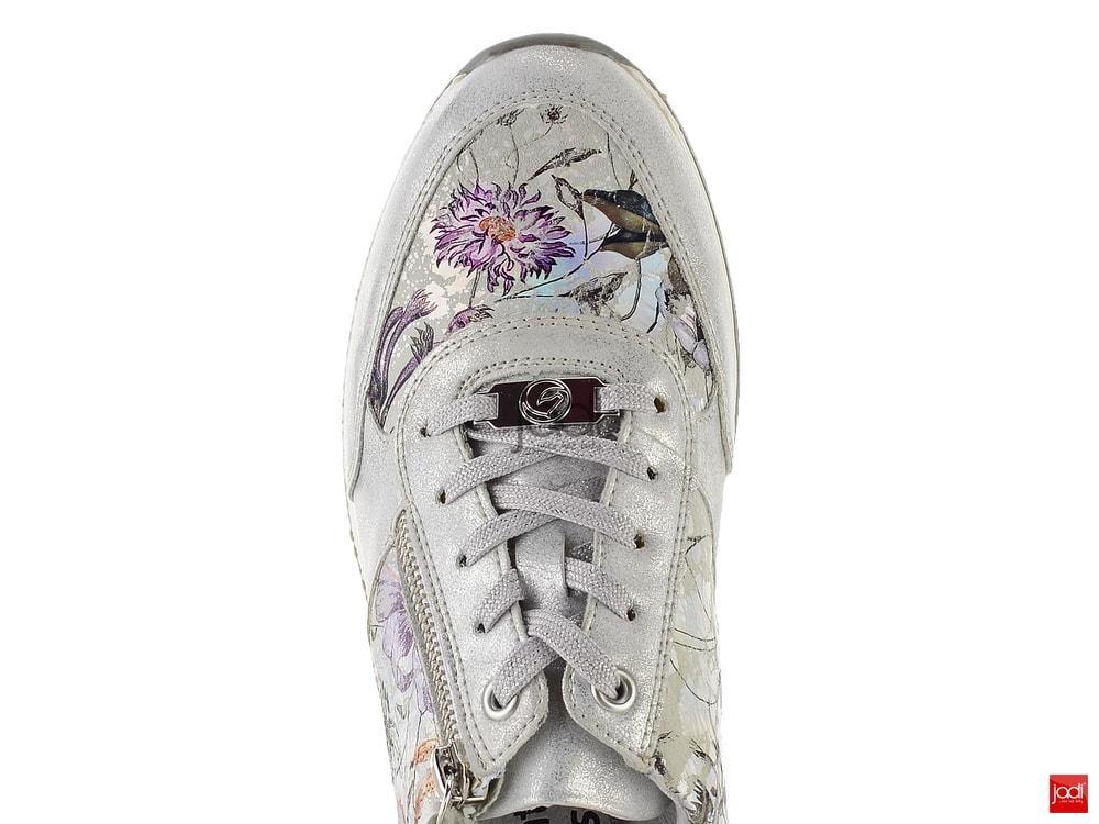 928c8e14e5 Remonte sneakers metalické s kytičkami R7010-90 - Remonte ...