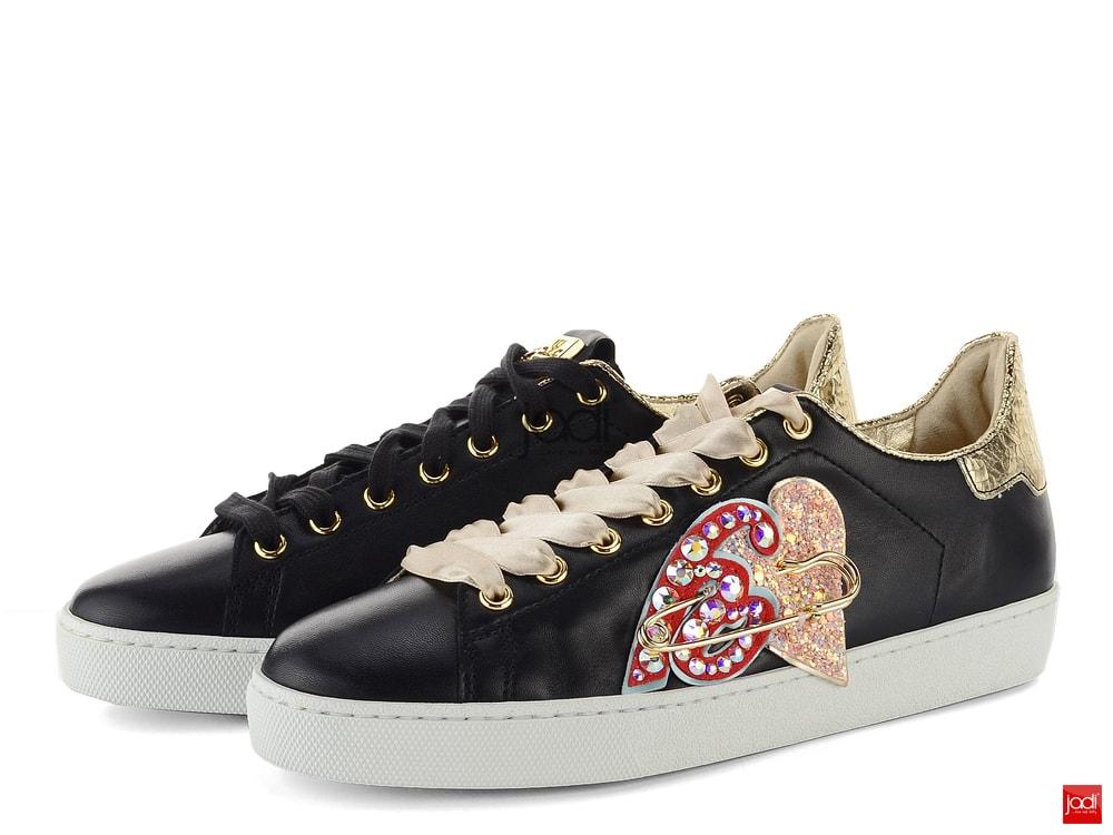 385c6fd8d2 Högl poltopánky Sneakers čierne s ozdobou Swarovski 5-100320 - Högl ...