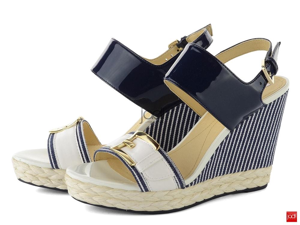 Geox sandály na klínu Janira navy D82P6E00254 - Geox - Sandály ... 24516cbffc