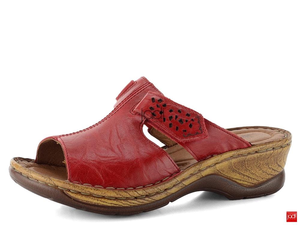 95536795a44 Josef Seibel pantofle na klínku červené 56496 - Josef Seibel ...