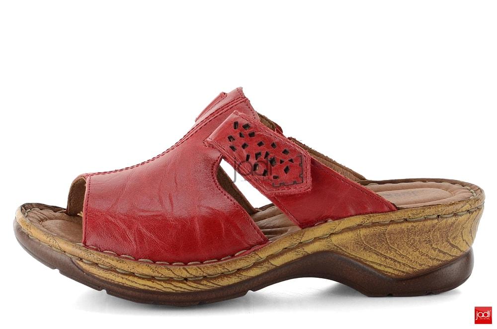 Josef Seibel pantofle na klínku červené 56496 - Josef Seibel ... 4093291446