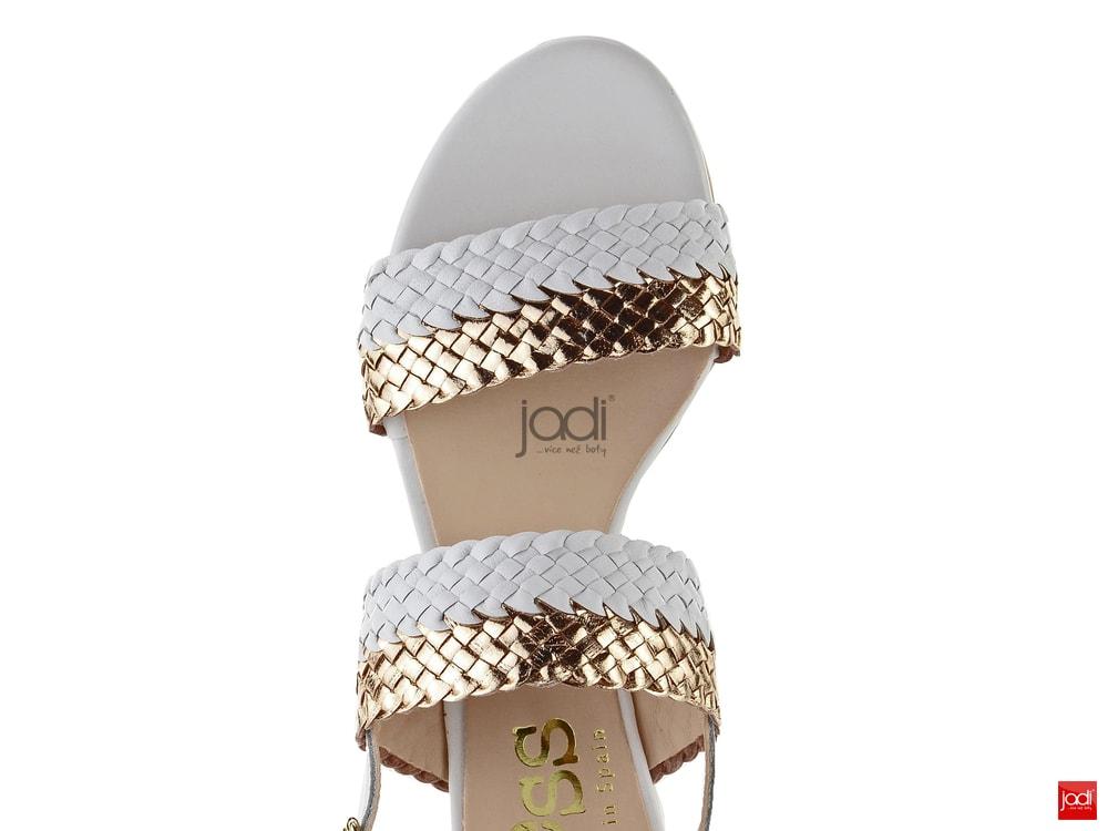 81dbfd9bba8 Kess prepletané sandálky bielo-zlaté 18177 - KESS - Sandále - JADI ...