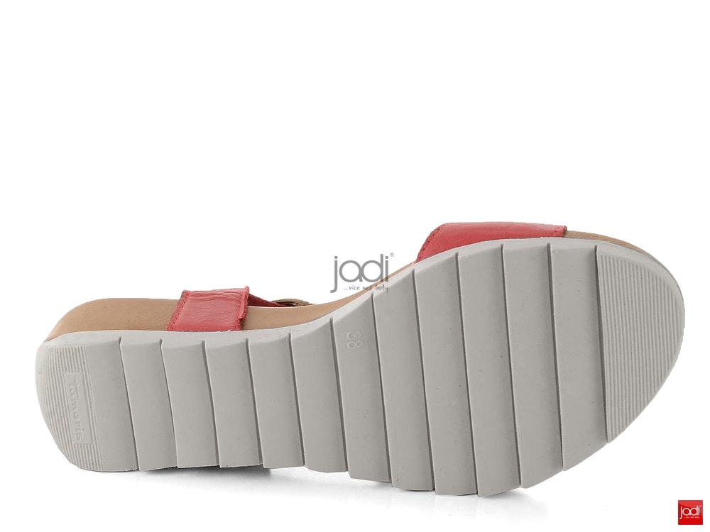 319a8fca5b2 Tamaris sandály fuzbetové červené kombinované 1-28709-20 - Tamaris ...