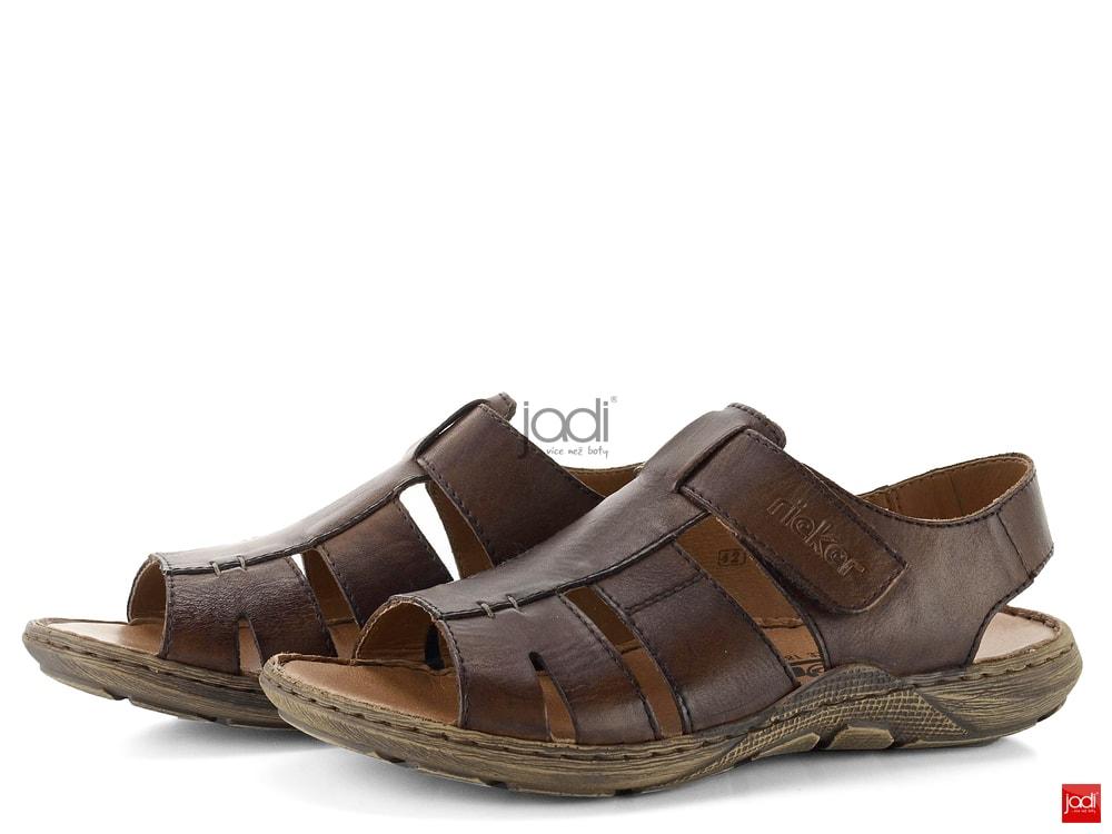 Rieker pánské sandály s velkrem hnědé 22073-25 - Rieker - Sandály ... 4fe087e607