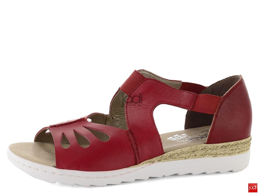 Rieker červené sandály s pružinkami 63004-33 - Rieker - Sandály ... 00d05dc09b