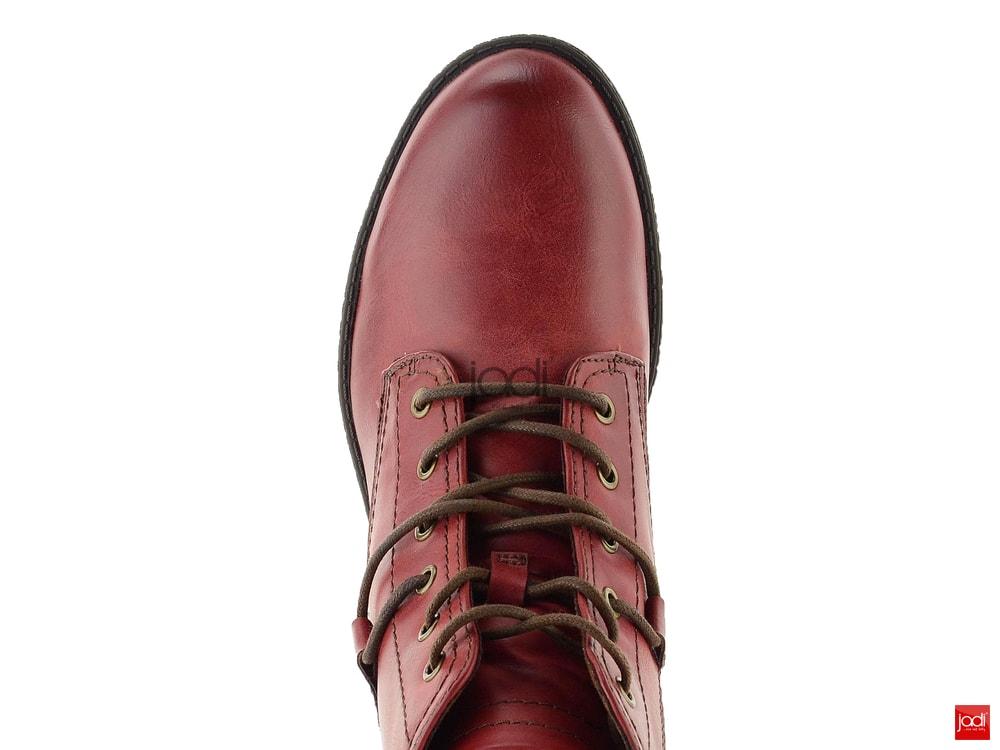 50e923ed56f15 Tamaris šnurovacie členkové topánky Sangria 1-25116-21 - Tamaris ...