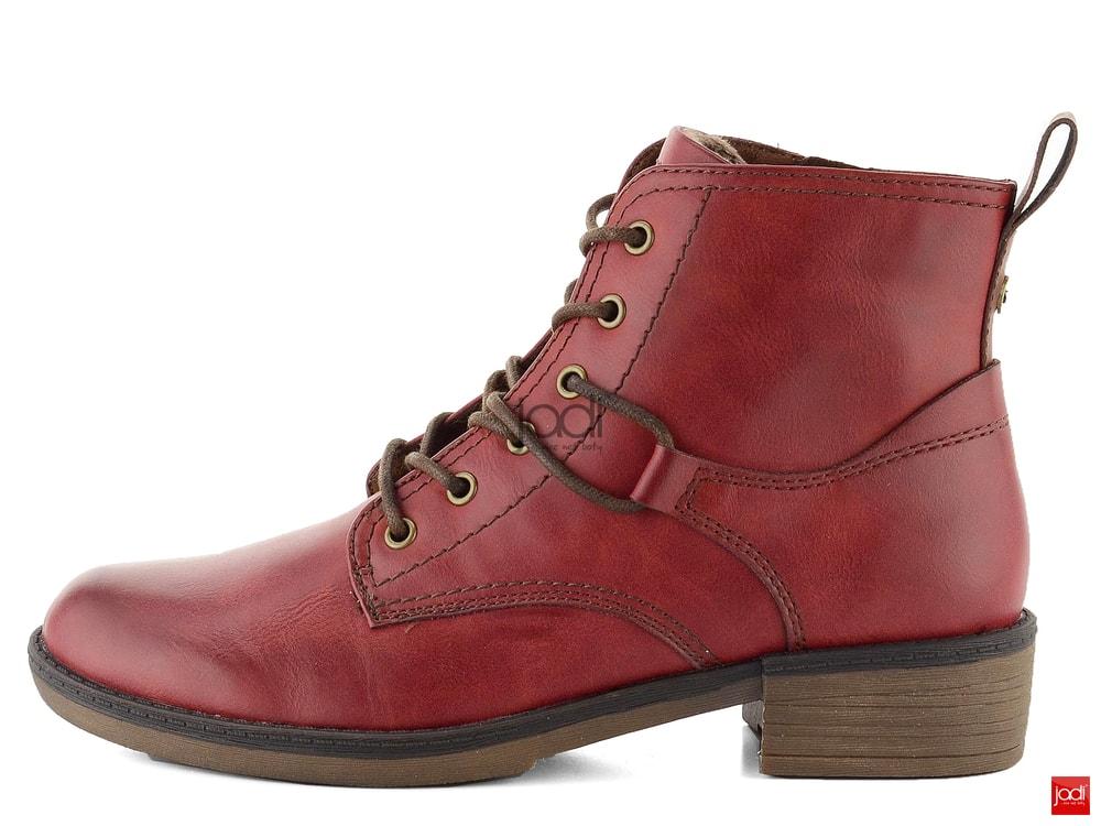 a06168f9ebe36 Tamaris šnurovacie členkové topánky Sangria 1-25116-21 - Tamaris ...