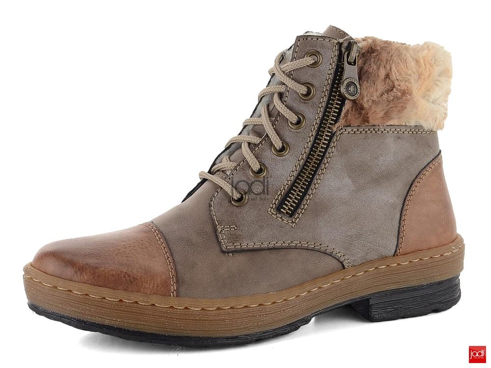 1cbe94b6725ac Rieker zateplené členkové topánky s kožušinkou hnedé Z6739-24 ...
