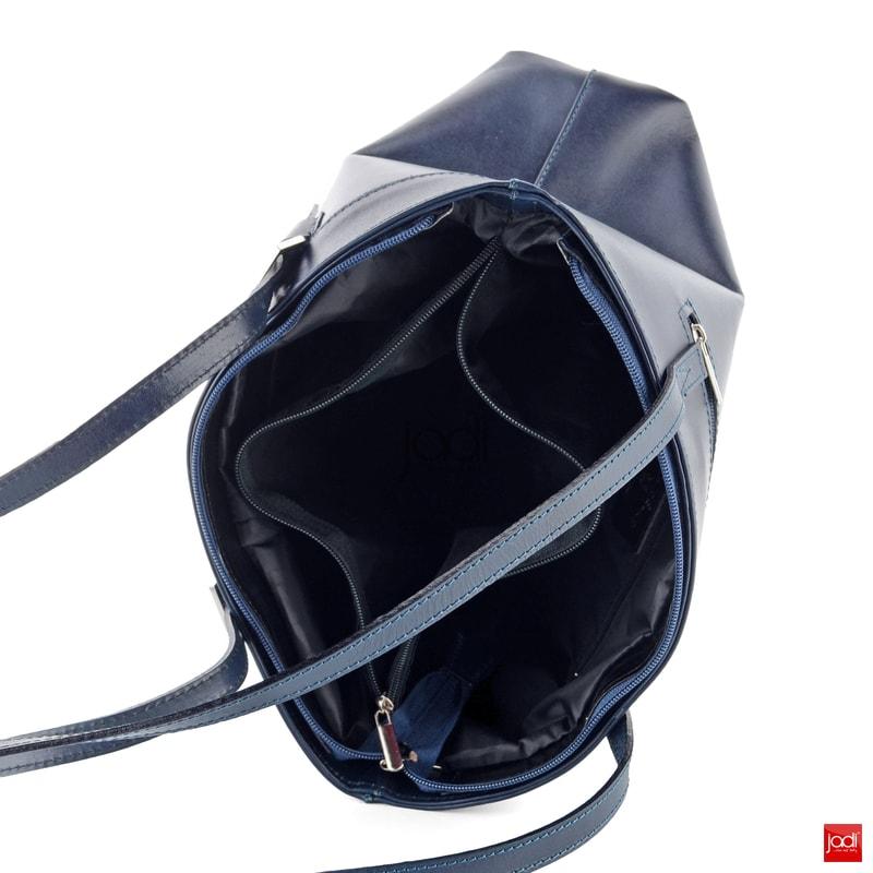 Kabelka z hladkej kože A4 navy 6-659 I.01 - Kožené kabelky - JADI.sk ... 35f03eb3523