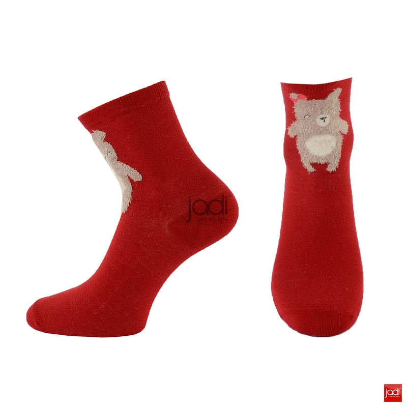 a8f9aea4d2d Vánoční ponožky s medvídětem červené 6180001 Vánoční ponožky s medvídětem  červené 6180001