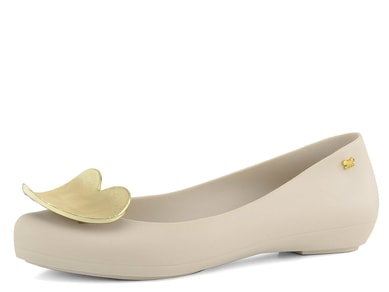 Zaxy baleríny Pop Heart Beige/Gold 82002